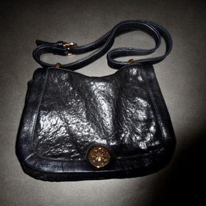 black pebbled leather Tory Burch purse